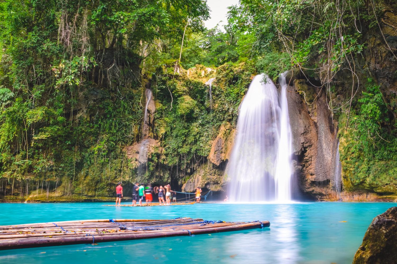 A view of Kawasan Falls