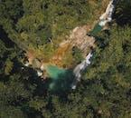 Aerial Shot of Kawasan Falls