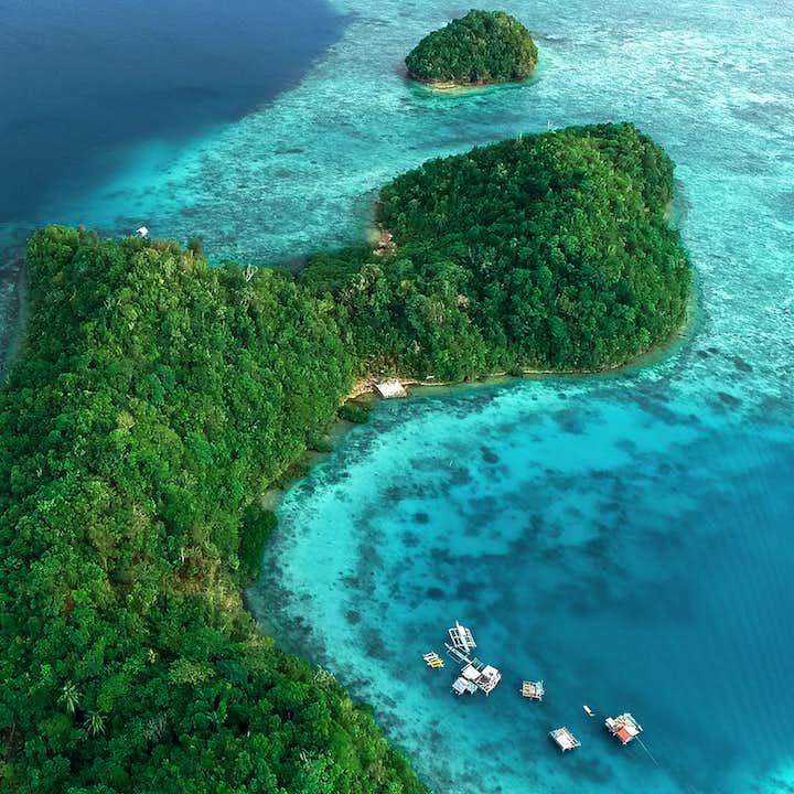 Aerial Shot of Sugba Lagoon