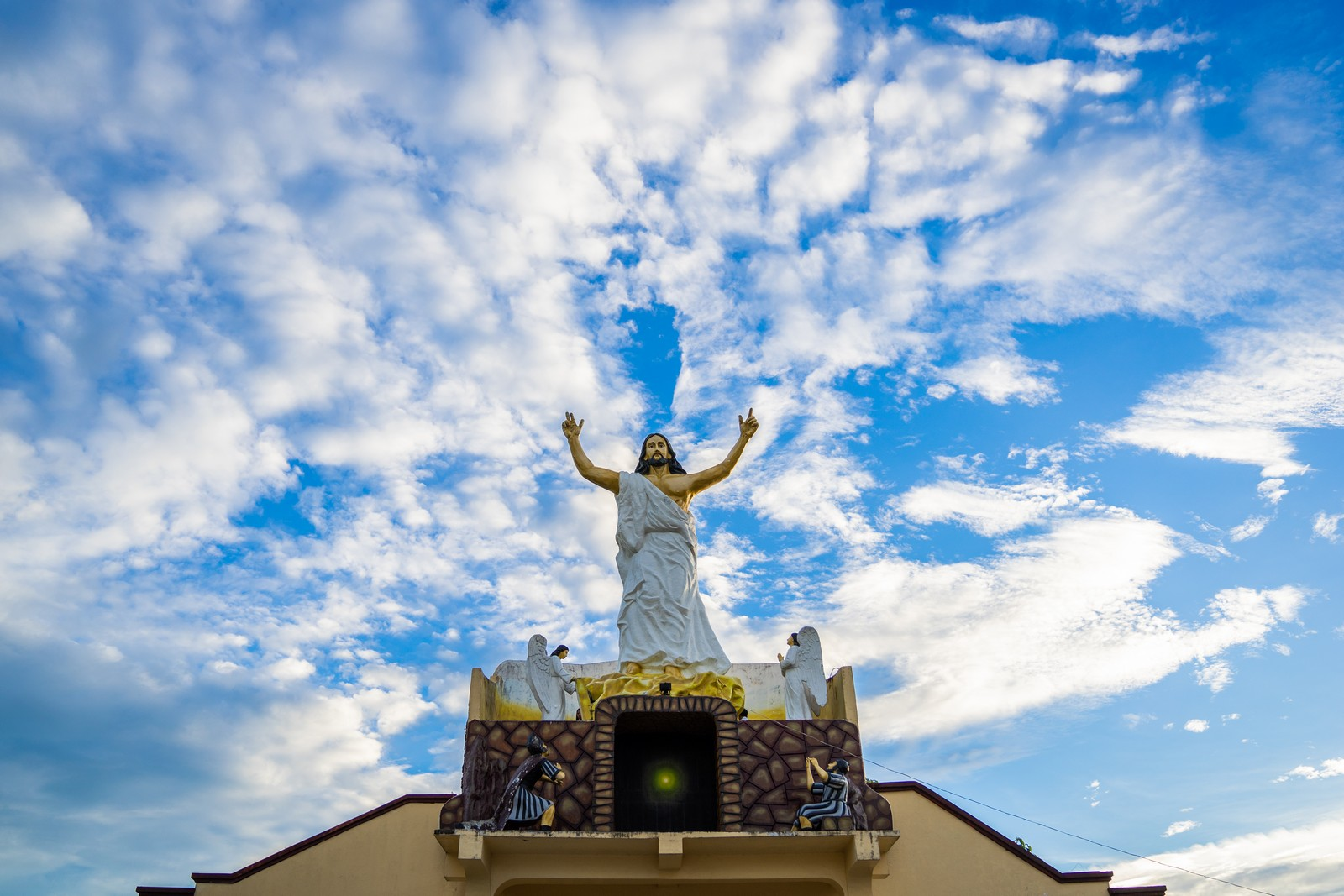 Jesus at the top of Iguig Calvary Hills