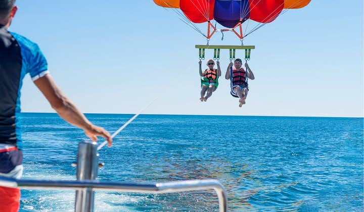 Couple or bffs parasailing in Boracay
