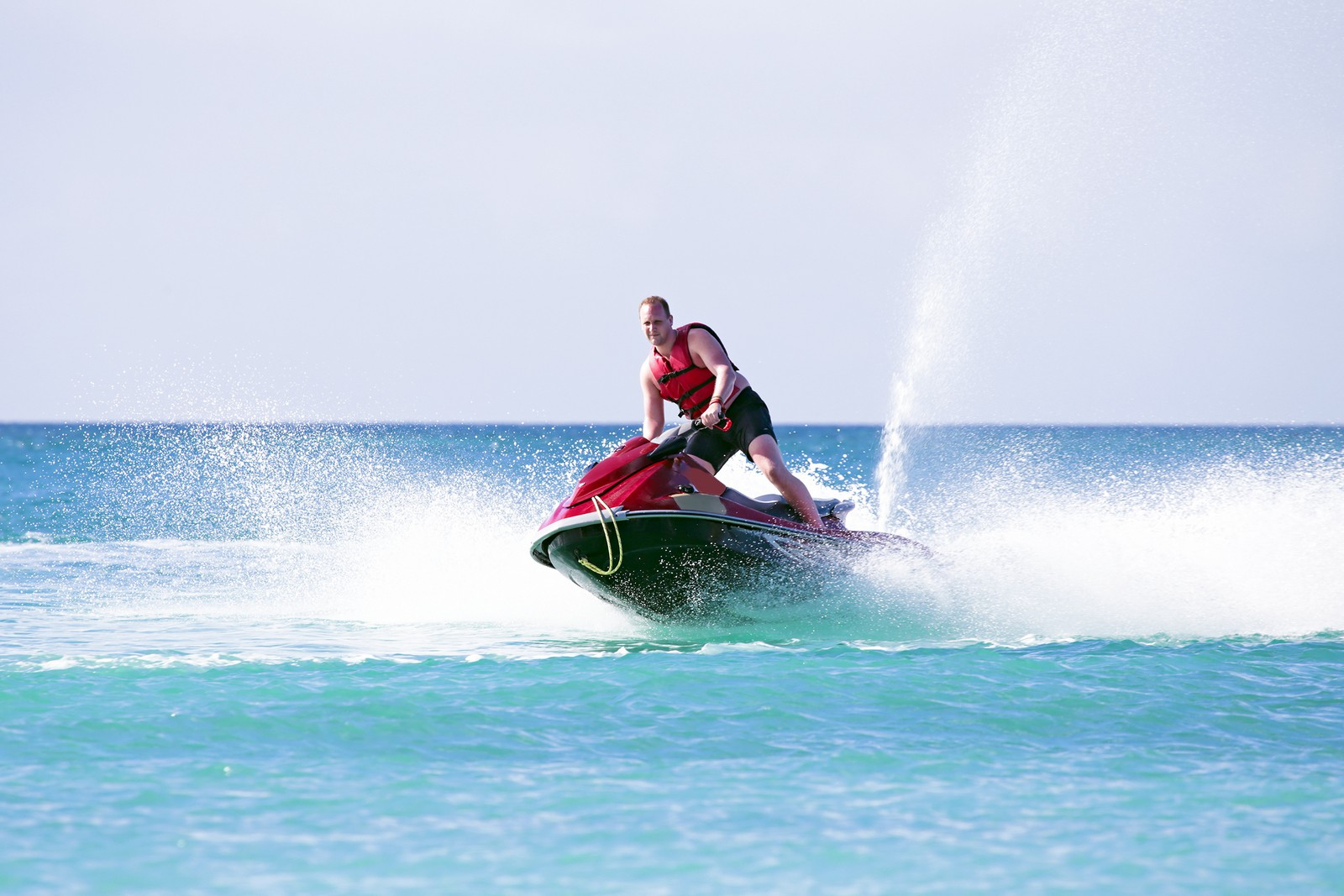 Tourist Jet skiing at Boracay
