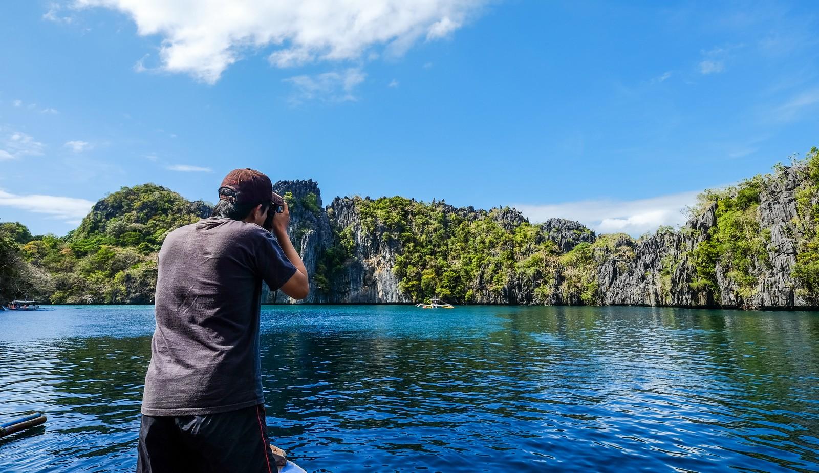 Traveler in El Nido Palawan