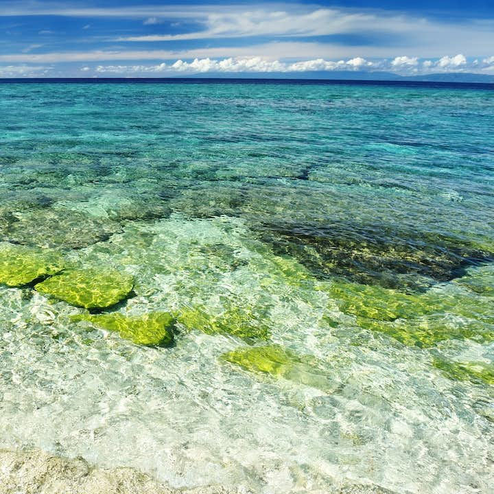 Clear waters of Balicasag Island