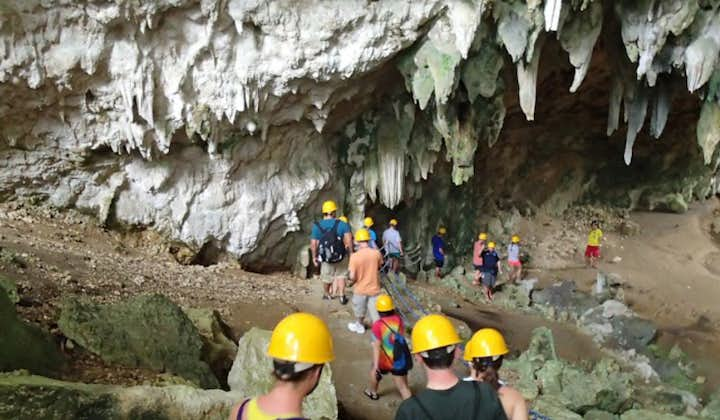 Group of tourists at Mabinay Caves