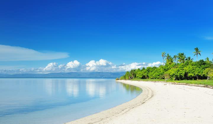 Beautiful stretch of white sand beach in Panglao Island