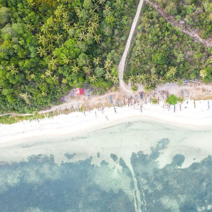 Aerial view of Anda Beach