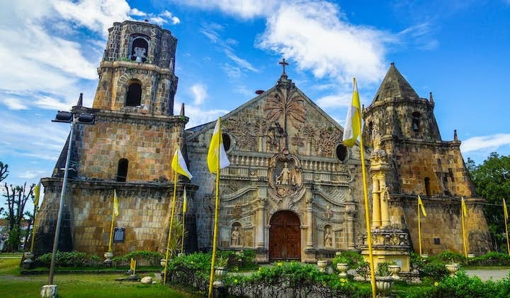 Beautiful structure of Miagao Church seen from outside