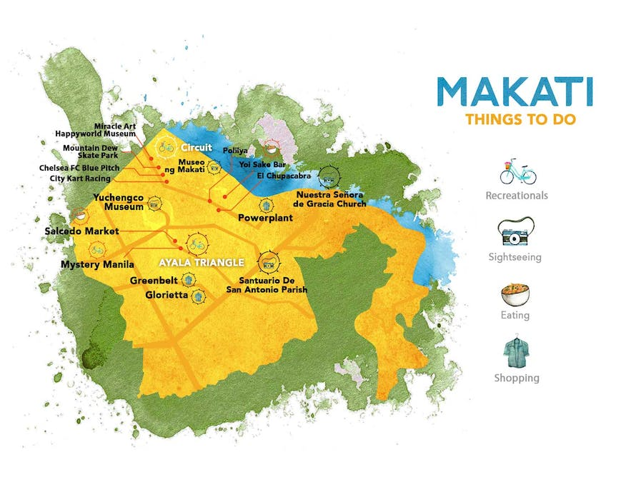 Guide to the Philippines' map of things to do in Makati
