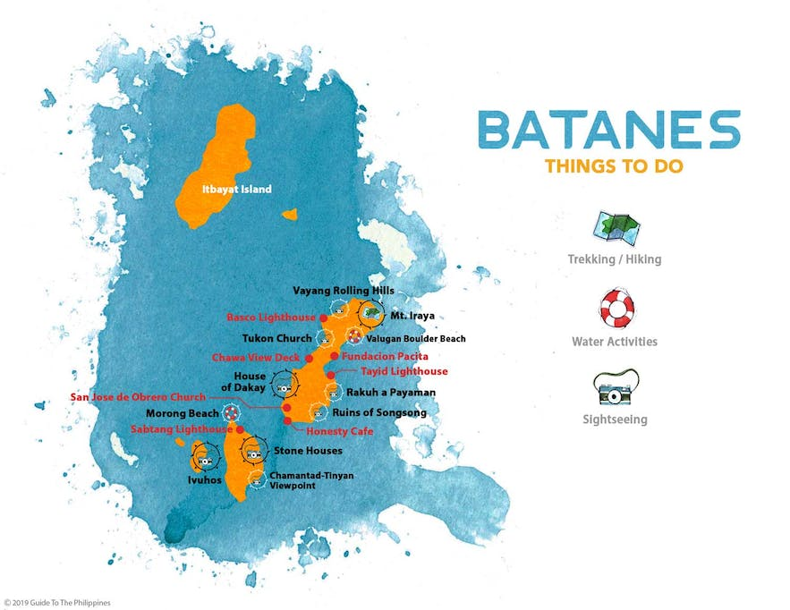 Guide to the Philippines' map of things to do in Batanes