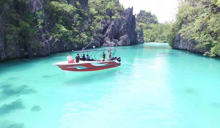 El Nido Yachting Club's Speedboat on Palawan's clear waters