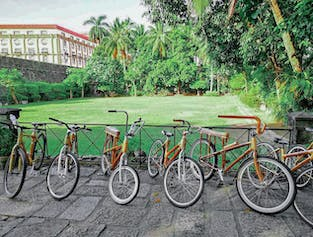 Historical Intramuros Manila Guided Tour in Eco-Friendly Bamboo Bikes width=