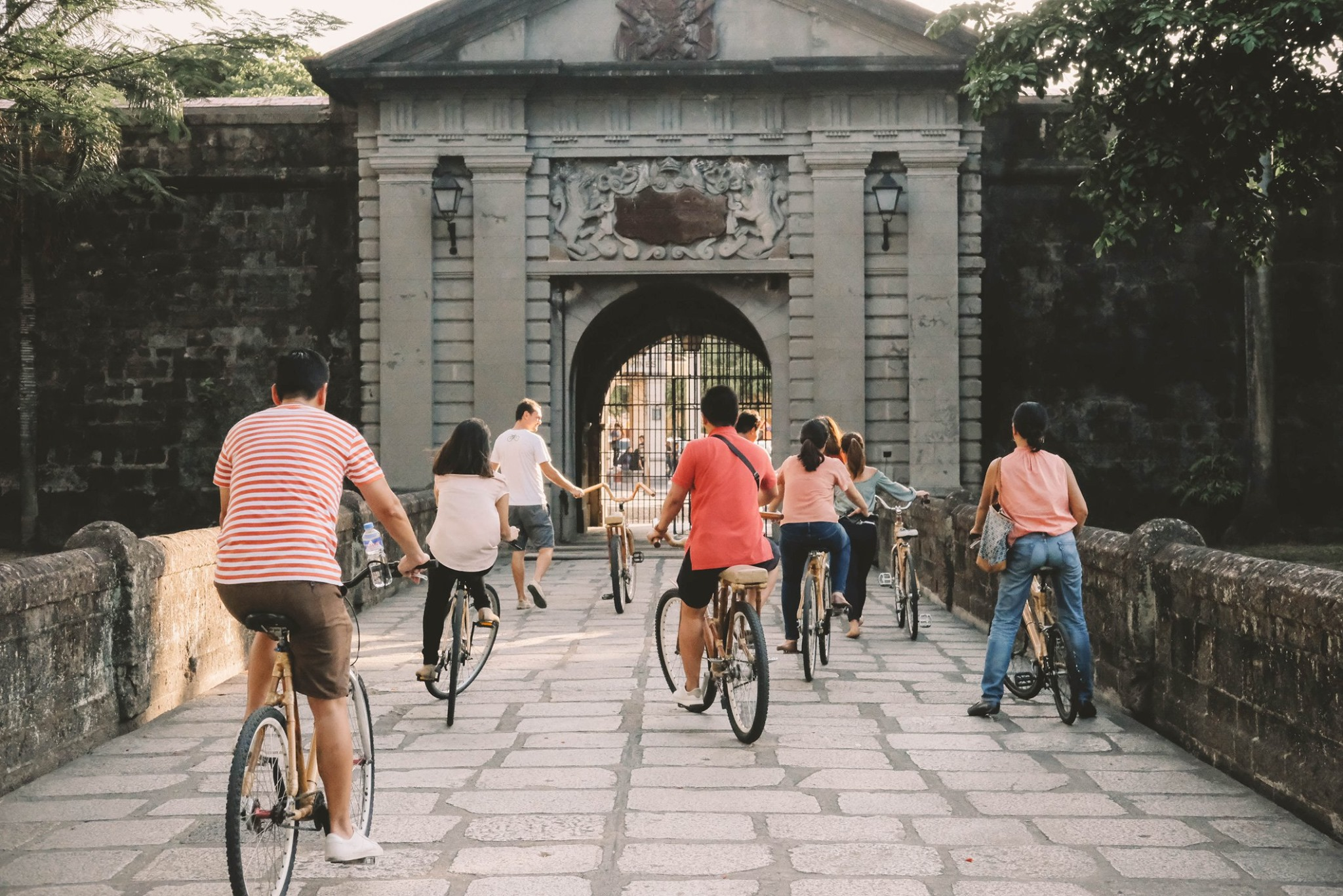 Bamboo Bike Guided Tour of Intramuros and Manila Sunset