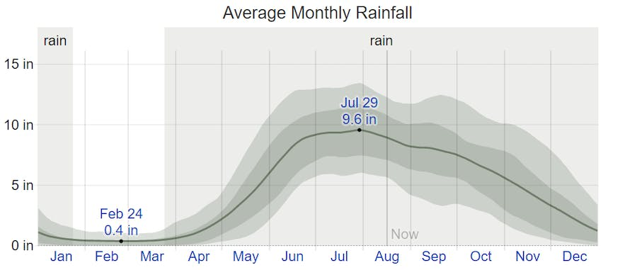 Average monthly rainfall in San Vicente, Palawan