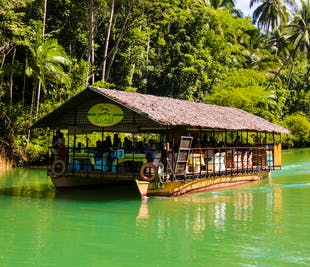 Bohol Countryside Guided Day Tour with Loboc River Cruise Lunch from Panglao