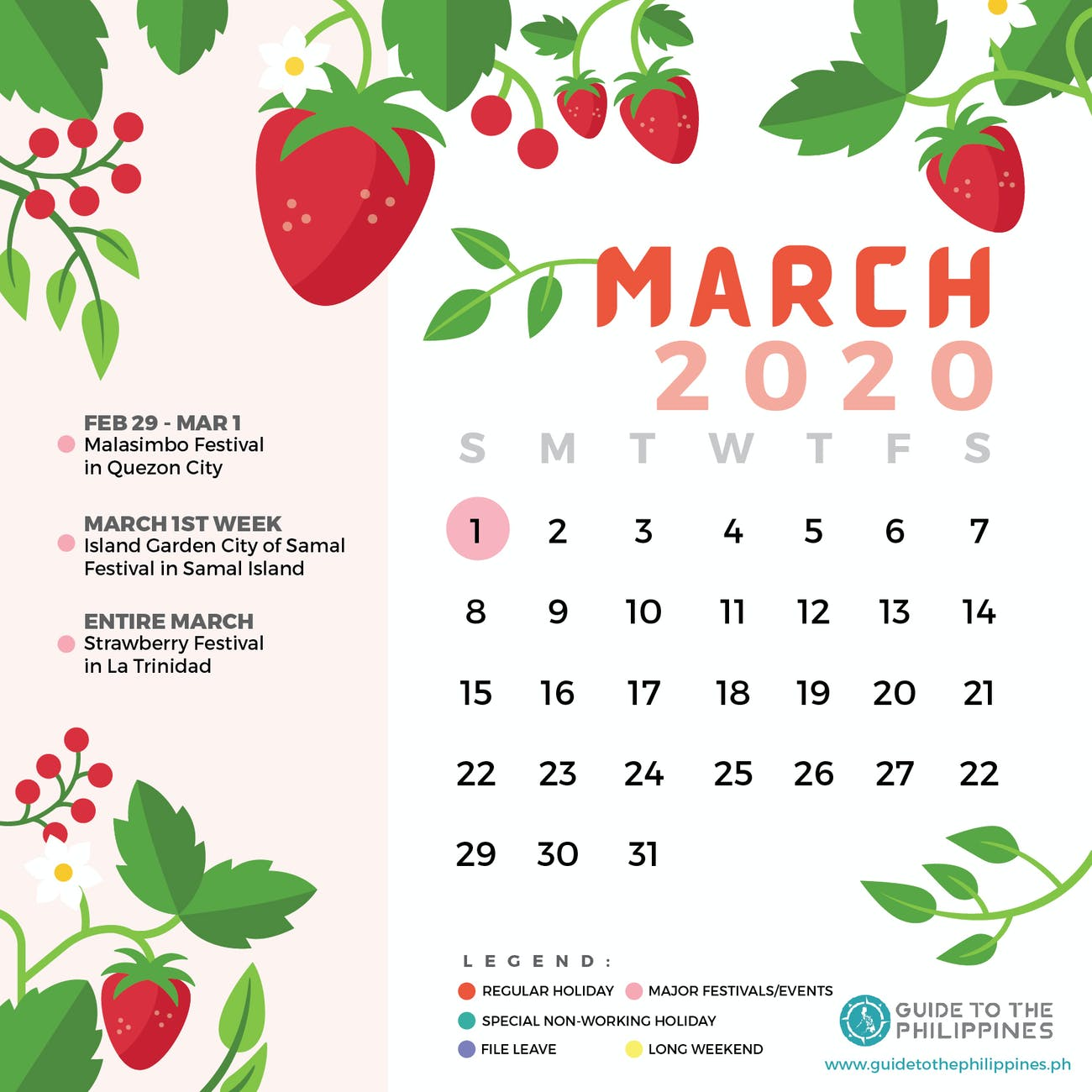 Strawberry Festival 2020 Dates.Philippines 2020 Holidays Long Weekends And Top Festivals