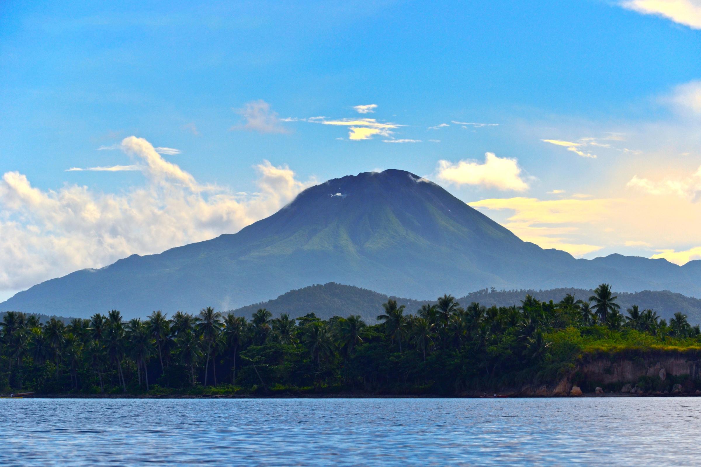 Scenic view of Mount Bulusan