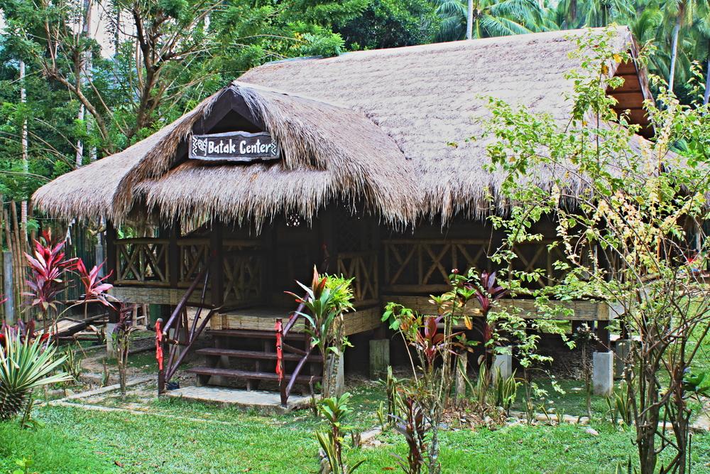 Nipa hut in Batak Tribe in Palawan