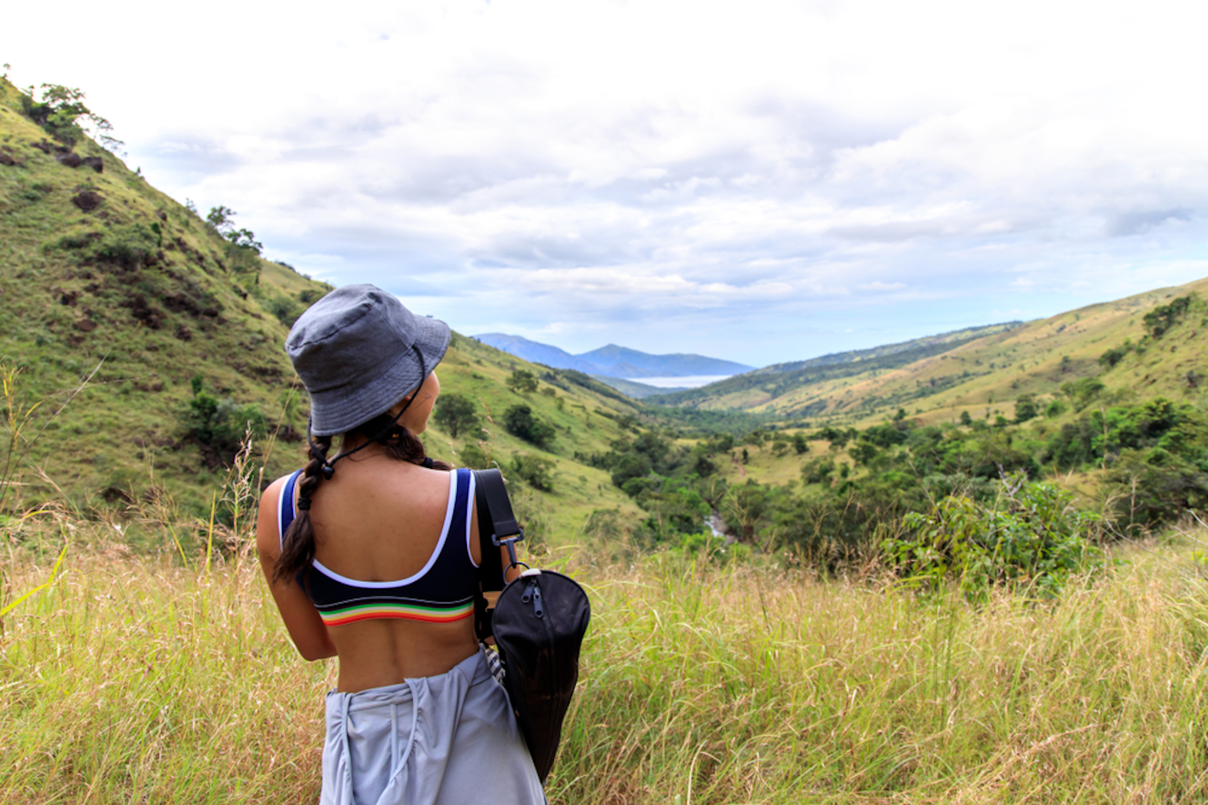 A girl during the Mt. Pinatubo Hike