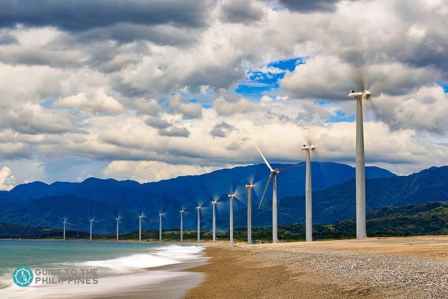 Bangui Windmills in Pagudpud, Ilocos Norte, Philippines