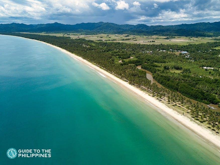 Long Beach in San Vicente, Palawan