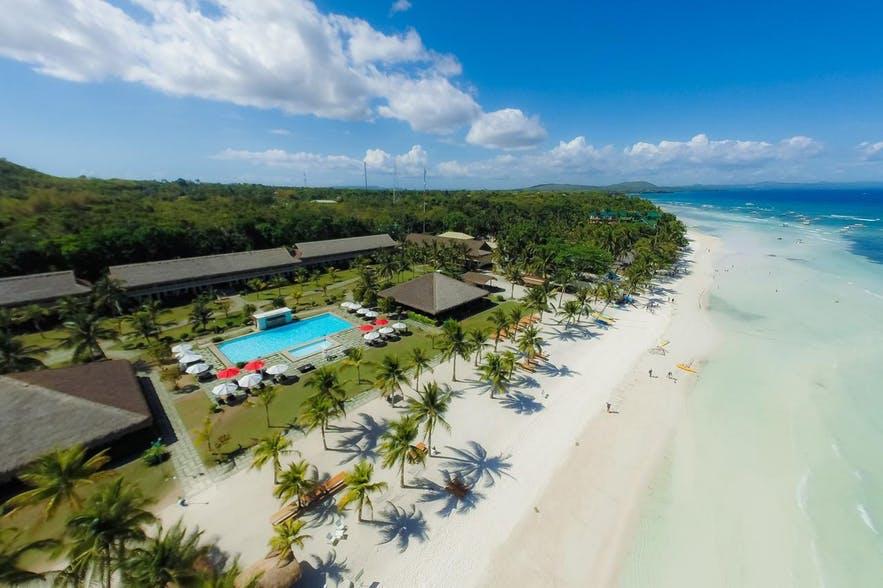 Aerial view of Bohol Beach Club in Panglao, Bohol