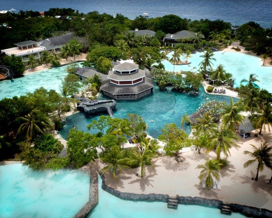 Top view of Plantation Bay Resort in Cebu, Philippines