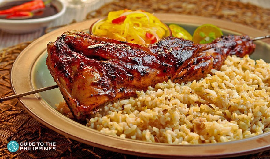 Chicken inasal with rice in the Philippines