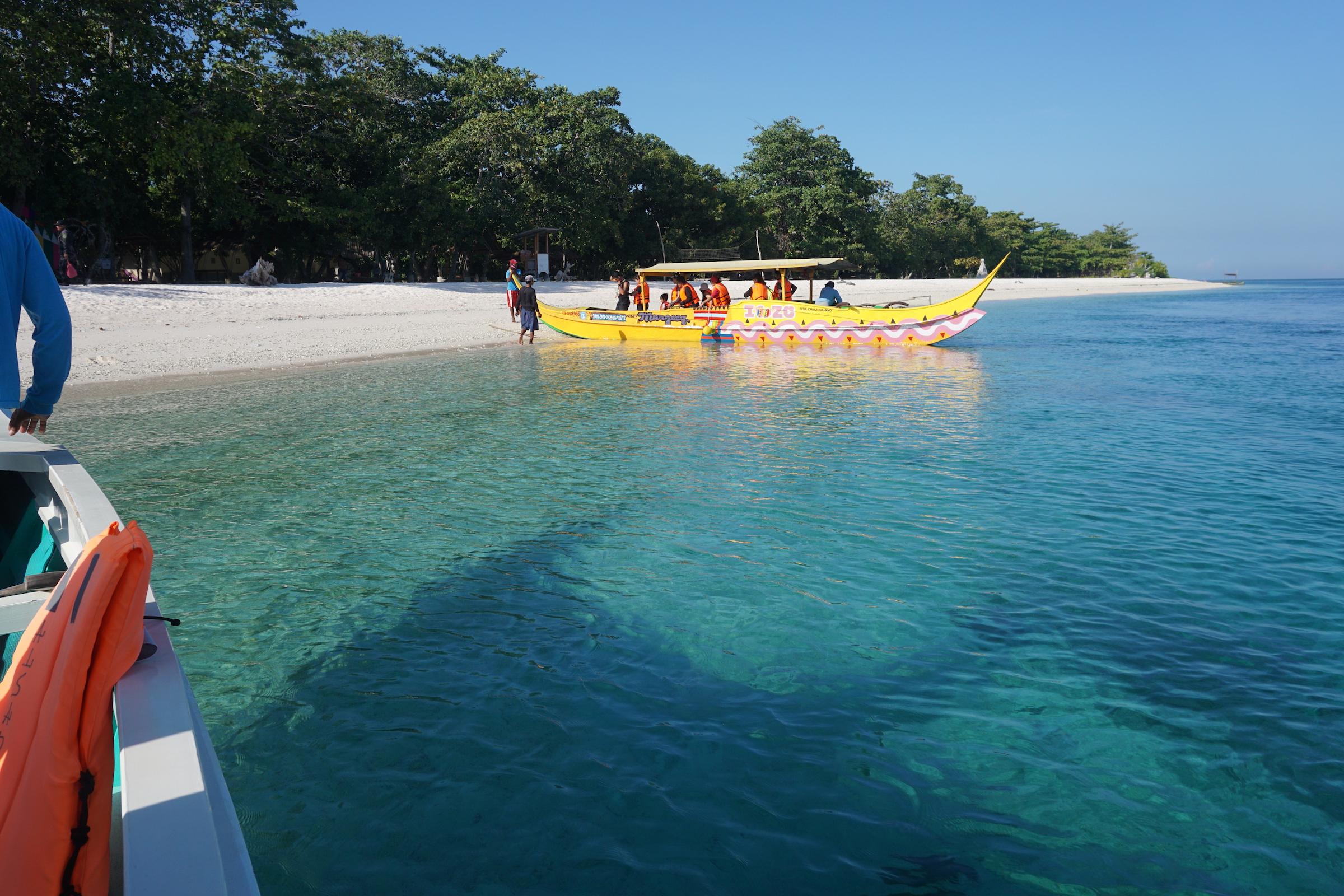 Boat ride experience in Pink Sand Beach Zamboanga