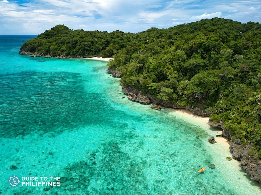 Puka Beach in Boracay Island, Philippines
