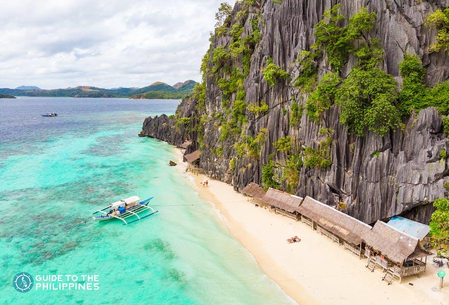 Banol Beach in Coron, Palawan, Philippines