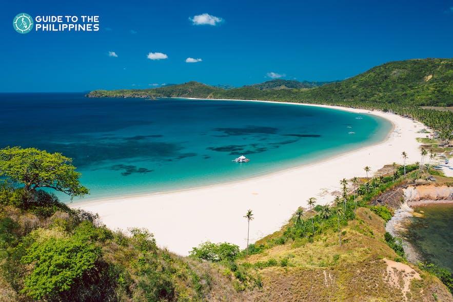 Nacpan Beach in El Nido, Palawan, Philippines