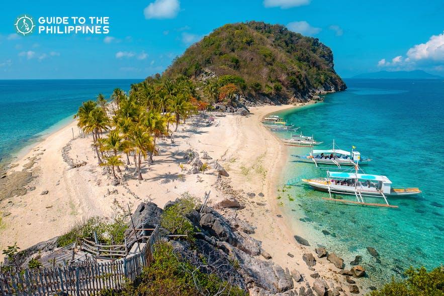 Cabugao Gamay Island in Islas de Gigantes, Carles, Iloilo, Philippines