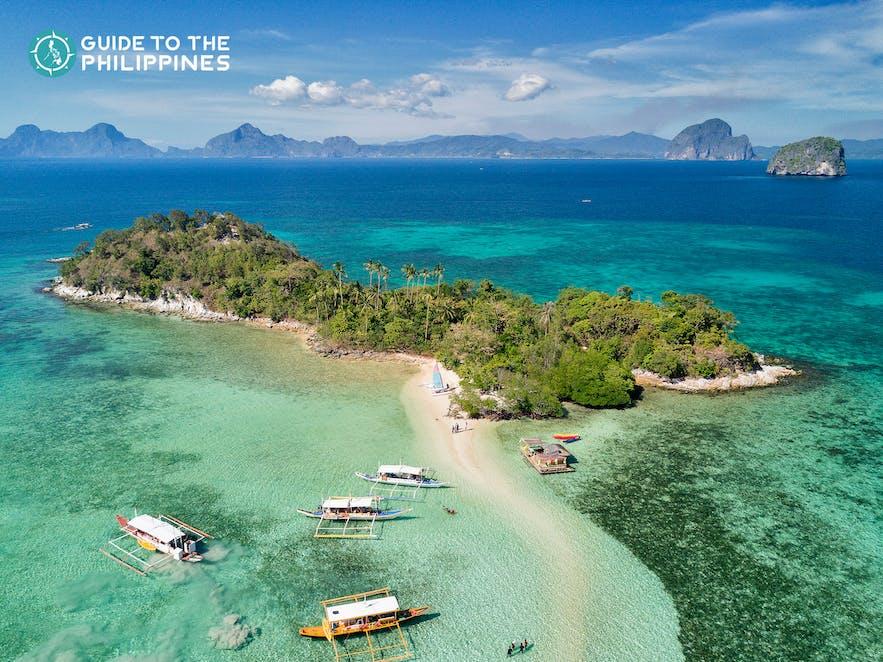 Snake Island in El Nido, Palawan, Philippines