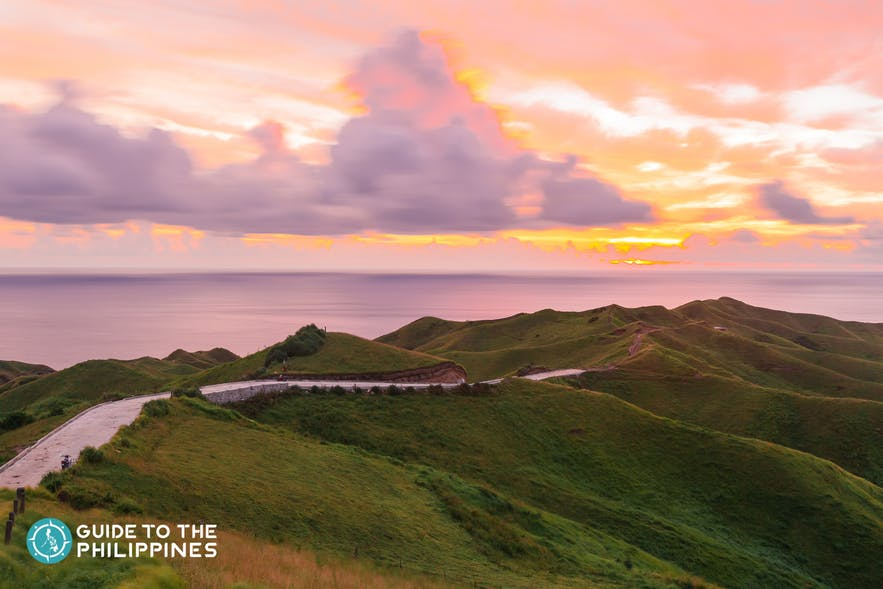 Sunset at Batanes in the Philippines