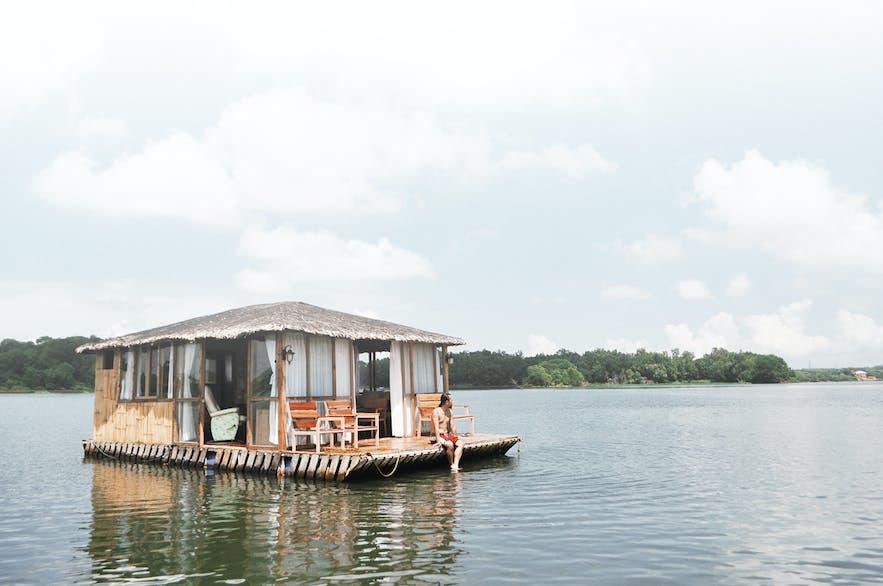 Aquascape floating cottage in Lake Caliraya