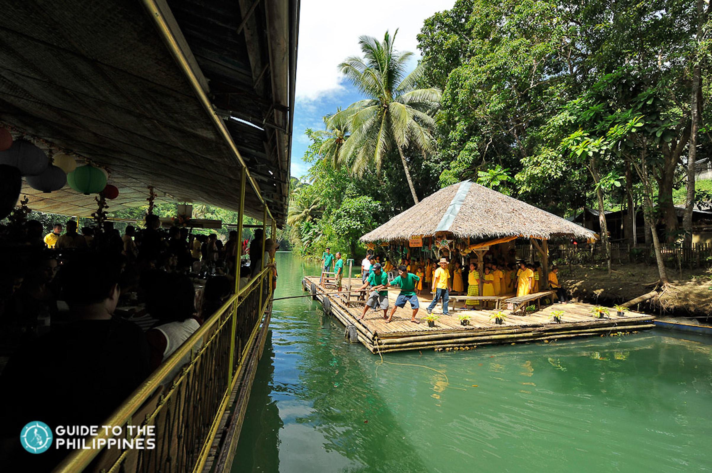 Choir in Loboc River Cruise Bohol