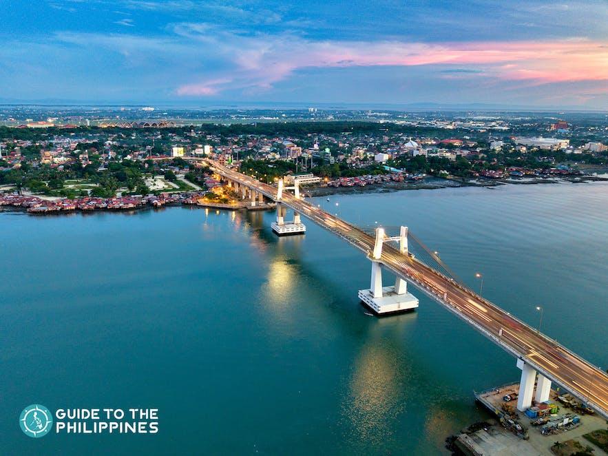 Marcelo Fernan Bridge connecting Mactan Island and Metro Cebu