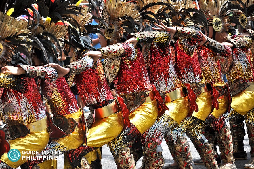 Street performers dancing at Sinulog Festival