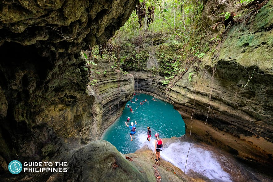Canyoneering in Badian, Cebu, Philippines
