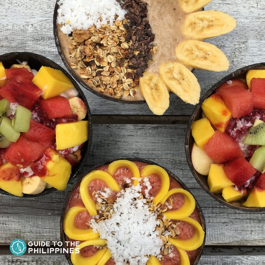Healthy food choices at Shaka Cafe, Siargao, Philippines