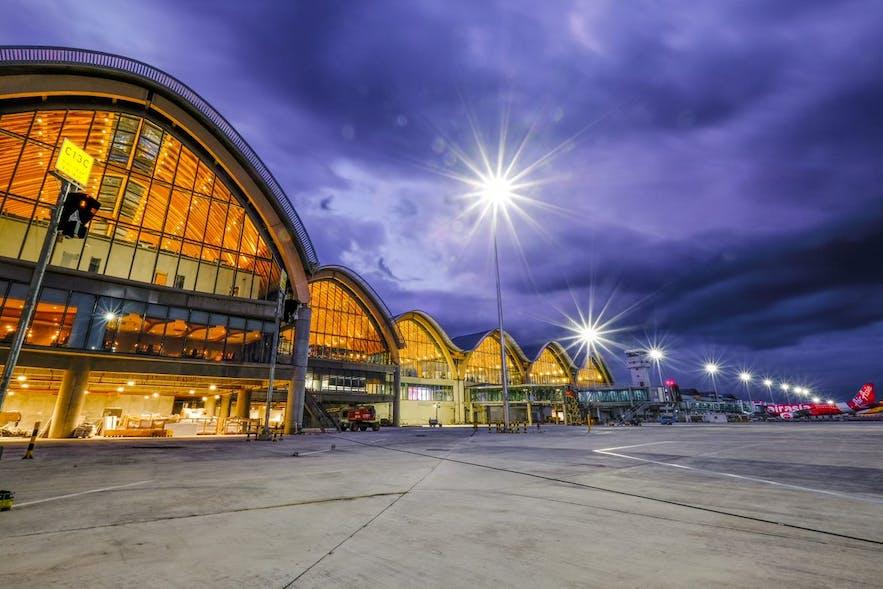 Mactan-Cebu International Airport at night