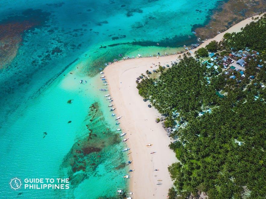 Daku Island in Siargao, Philippines