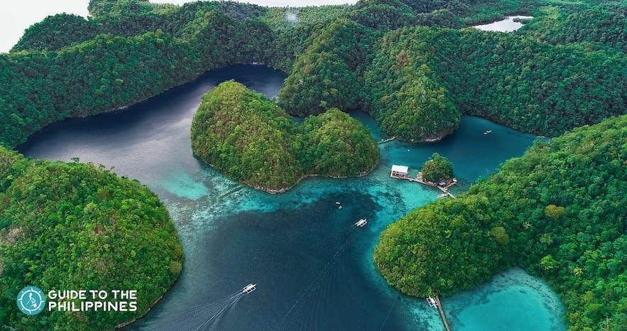 Sugba Lagoon in Del Carmen, Siargao Island, Philippines