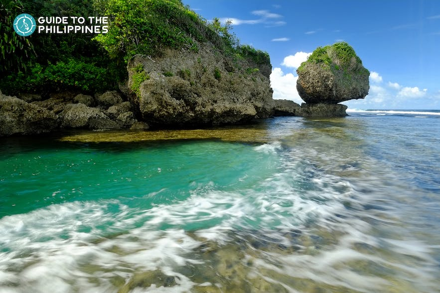 Clear waters of Magpupungko rock pool