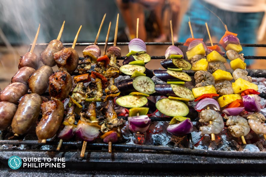 Grilled food at Siargao Eateries