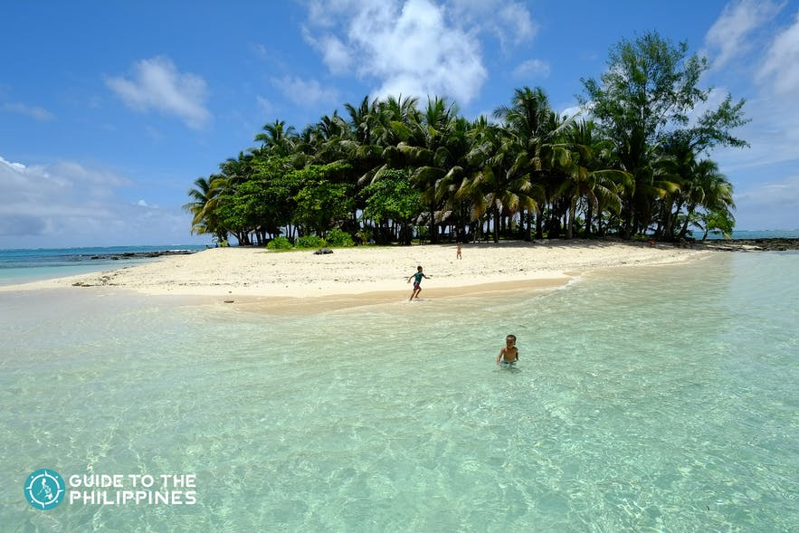 Clear waters of Guyam Island in Siargao, Philippines