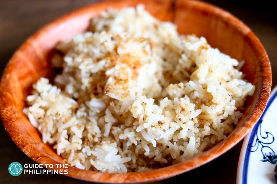 Garlic rice in the Philippines