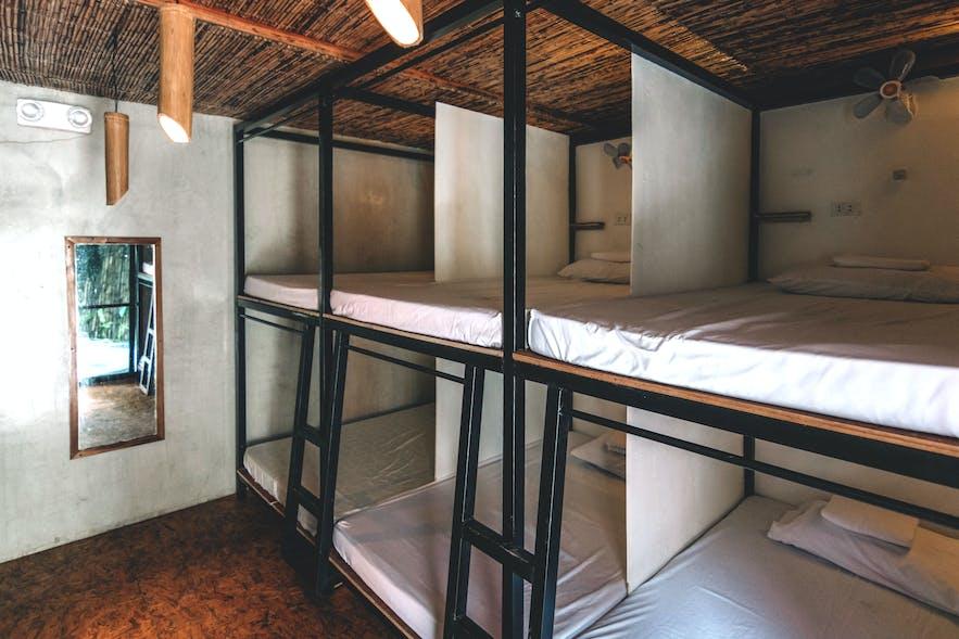 Dorm-type room of Mad Monkey Siargao
