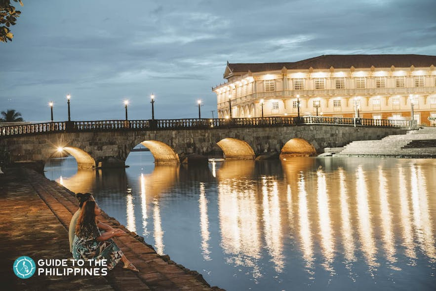 The splendor of Bataan's Las Casas Filipinas de Acuzar at night